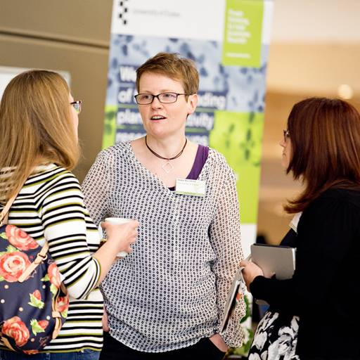 People networking at Agritech Week event held at University