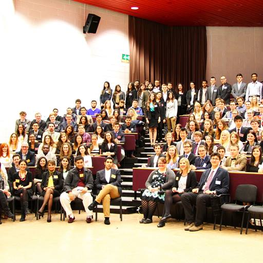 Large group of students at a conference