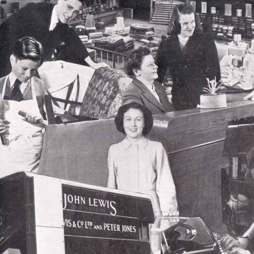 Montage of John Lewis archive pictures