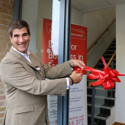 Vice-Chancellor Professor Anthony Forster officially opens Essex Chambers of Commerce offices