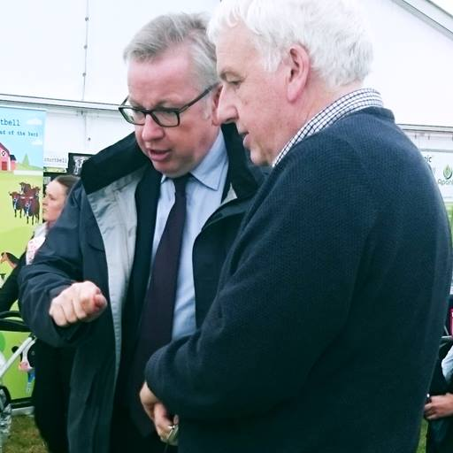 Environment Secretary Michael Gove meets Professor Philip Mullineaux
