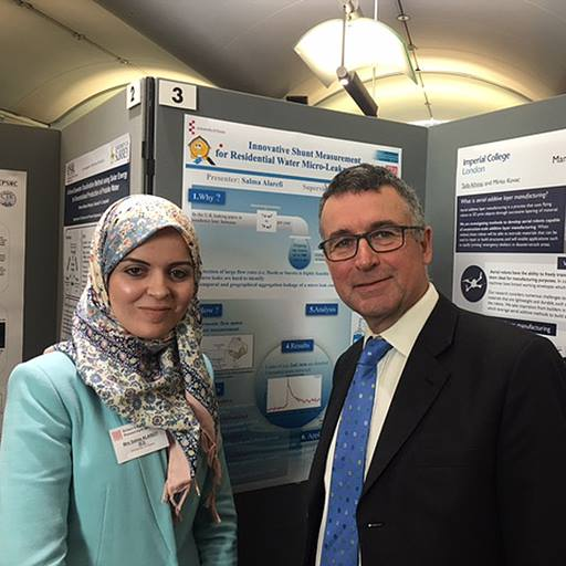 Salma Alarefi with Harwich and North Essex MP Bernard Jenkin