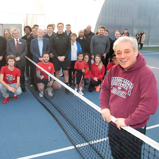 Speaker of the House of Commons, the Rt Hon John Bercow MP at the official opening of our new tennis dome.