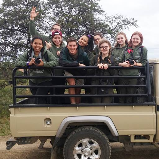 Students at the UmPhafa nature reserve in South Africa.