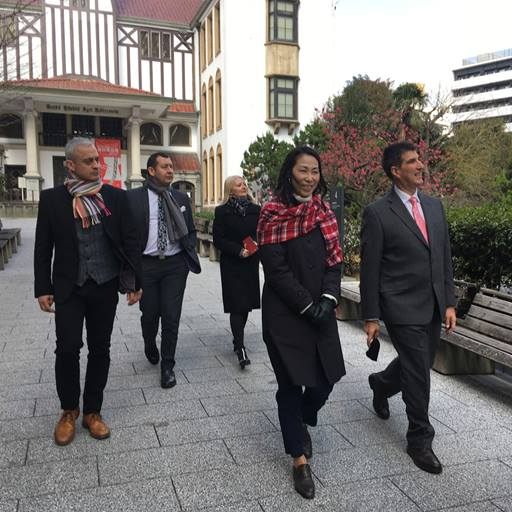 Essex delegation given a tour of Waseda University in Tokyo.