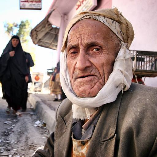 Elderly Iraqi man