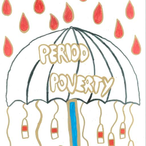 Period poverty campaign poster