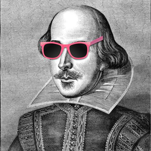 William Shakespeare with sunglasses on