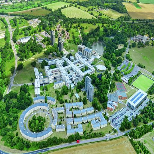 aerial photograph of University of Essex Colchester Campus