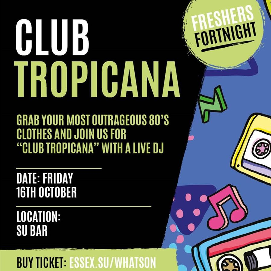 The Student Union bar presents.. Club Tropicana