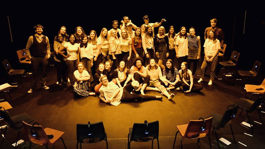 Drama students delve into darkness to create bold headphone performance