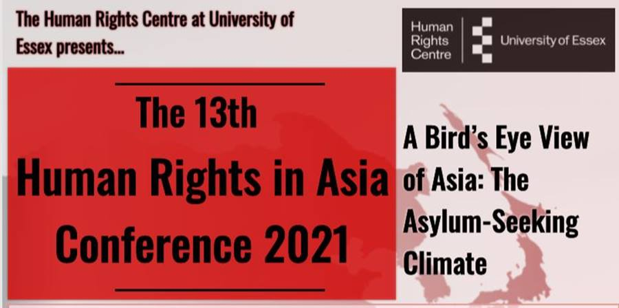 Human Rights in Asia Conference 2021 - A Bird's Eye View of Asia: The Asylum - Seeking Climate