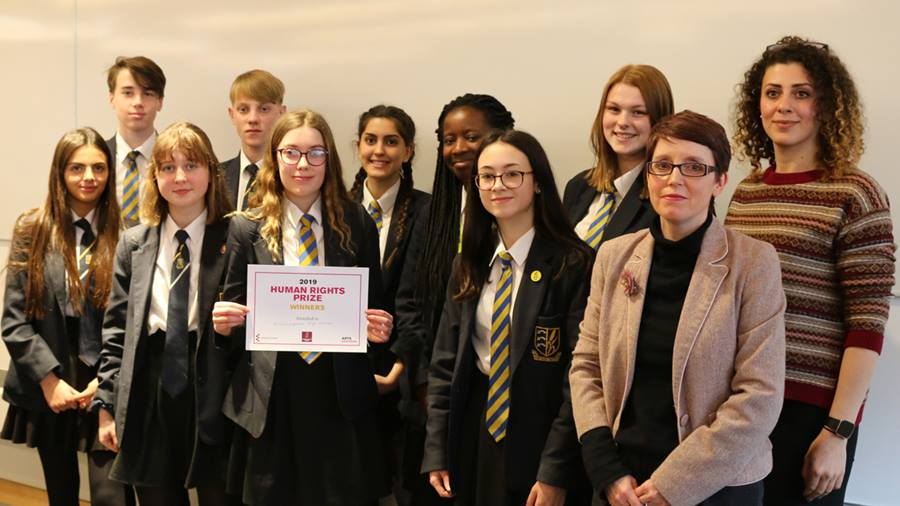 Manningtree High School scoops Human Rights Prize