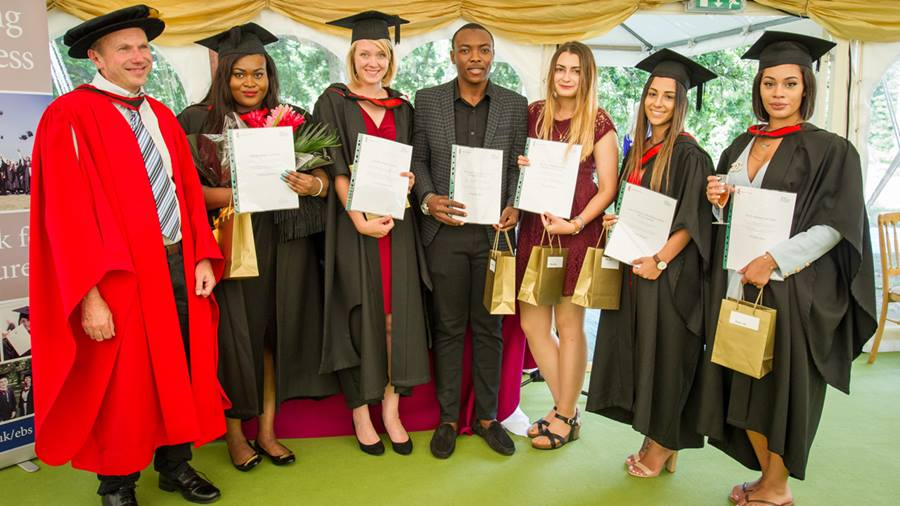 Graduation prizes for Essex Business School students