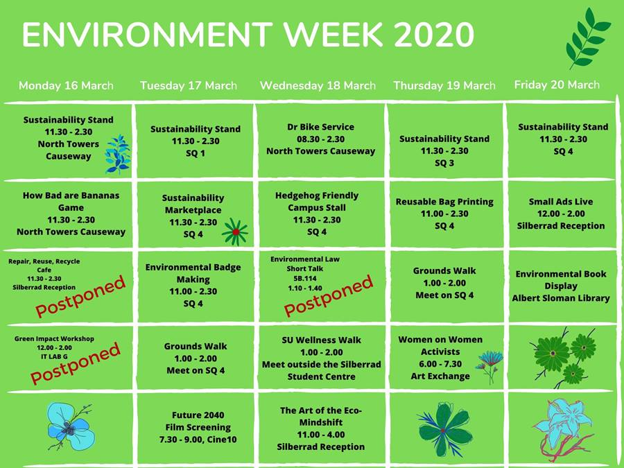 EVENT CANCELLED: Environment Week 2020