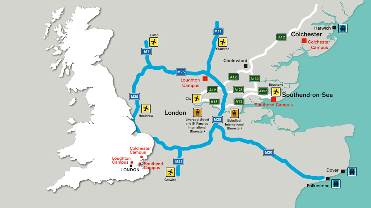 Travel routes to our campuses)