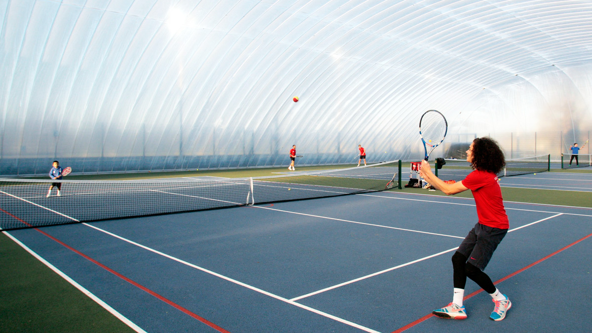 New tennis dome at our Colchester Campus)