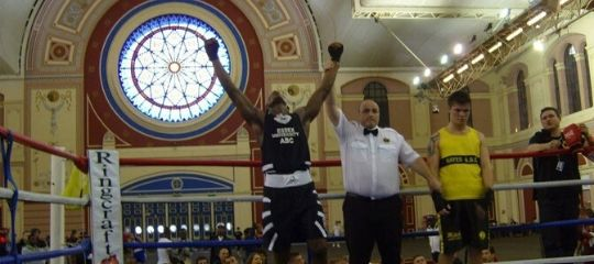 Dan Azeez victorious in the boxing ring