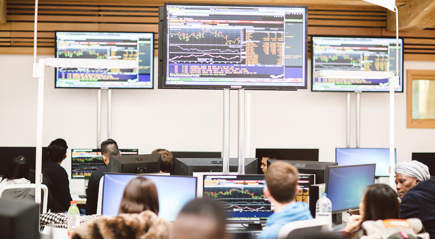 Trading floor at Essex Business School