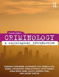 Criminology Text book front cover