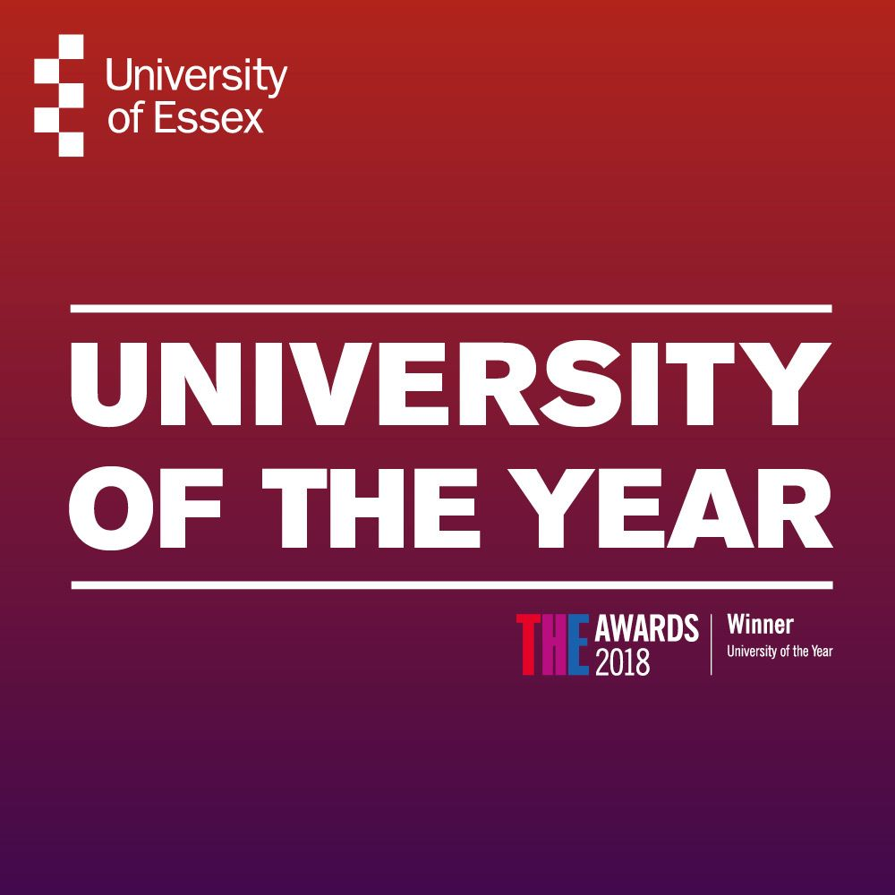 University of Essex - University of the Year 2018 poster