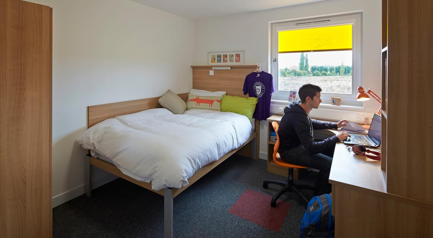 The Meadows offers quiet and spacious rooms, just a short walk from the centre of campus