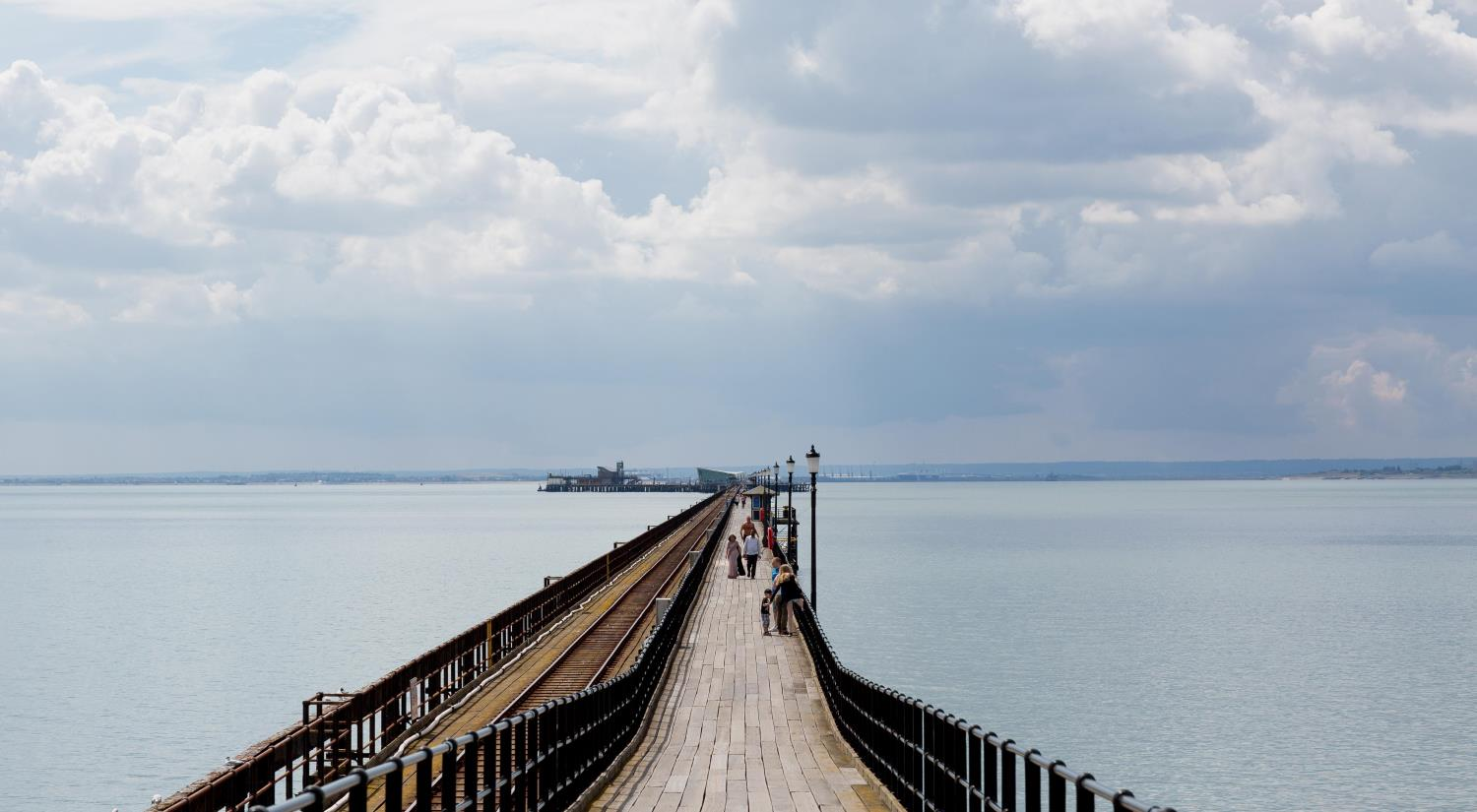 Southend pier view over the sea