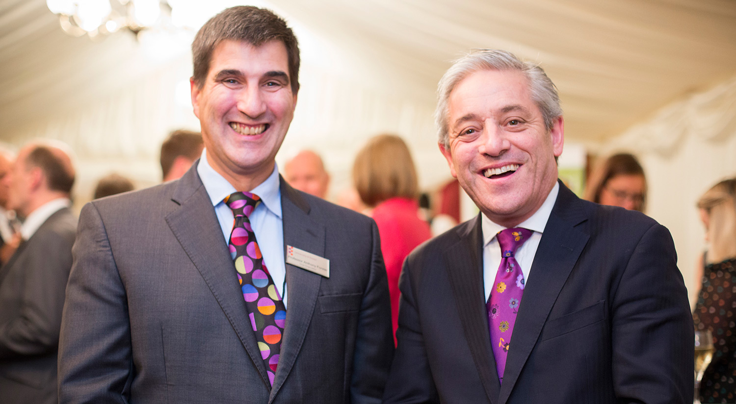 Vice-Chancellor Professor Anthony Forster and John Bercow