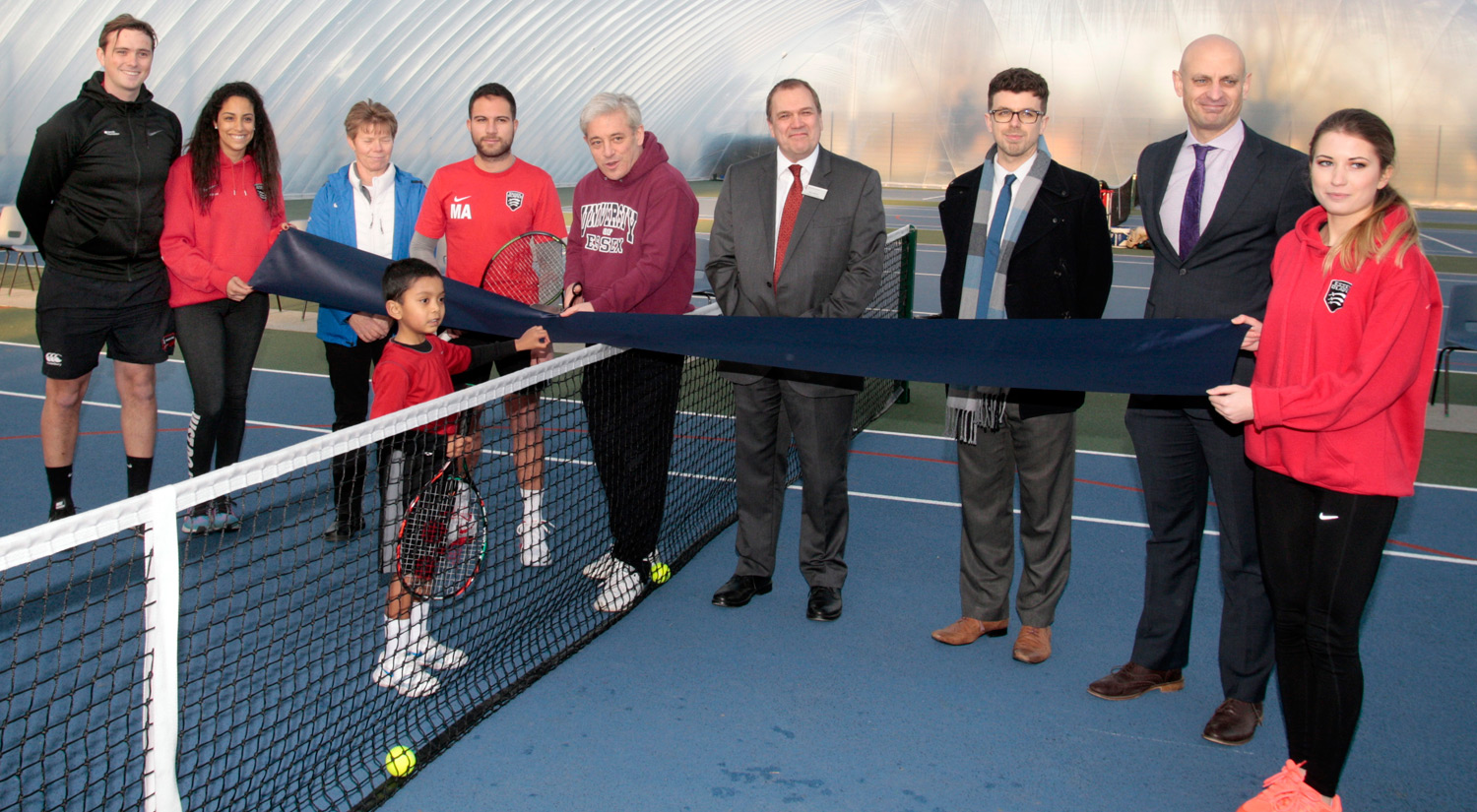 Opening our new tennis dome