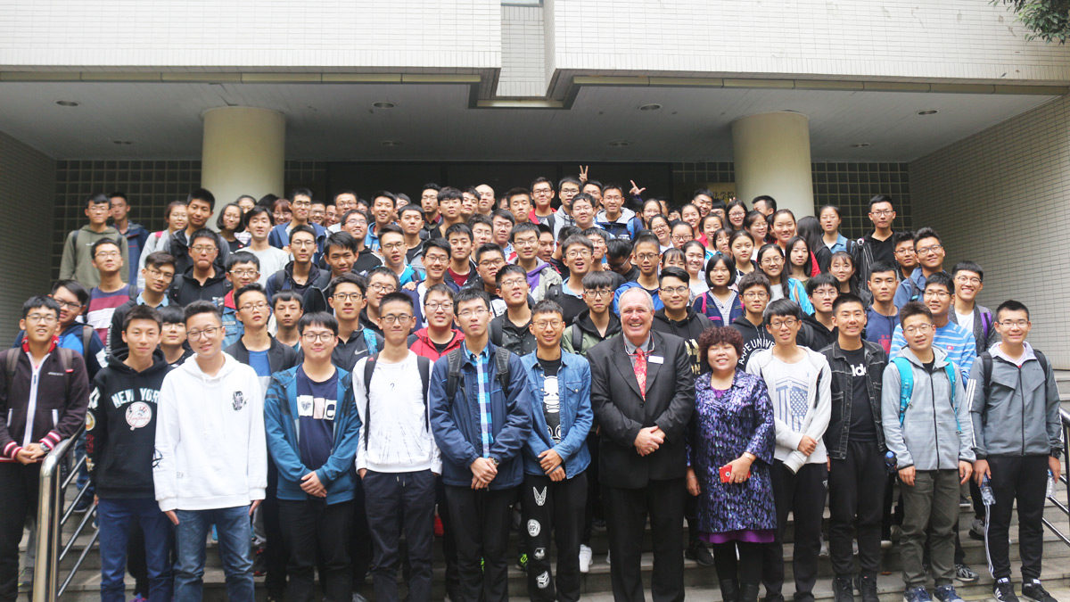 Our first cohort of students on the new joint degree programme with Northwest University in China)