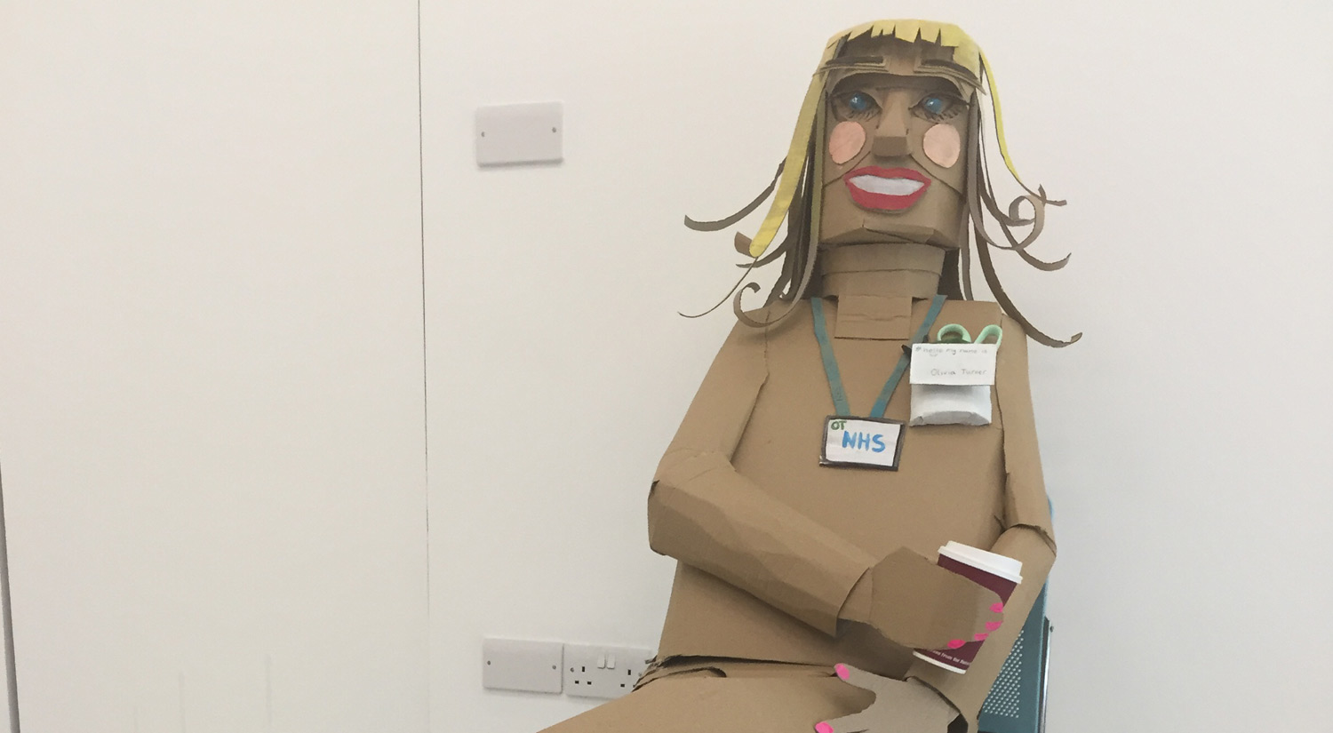 Life-size sculpture of an occupational therapist, created by Gracie's group