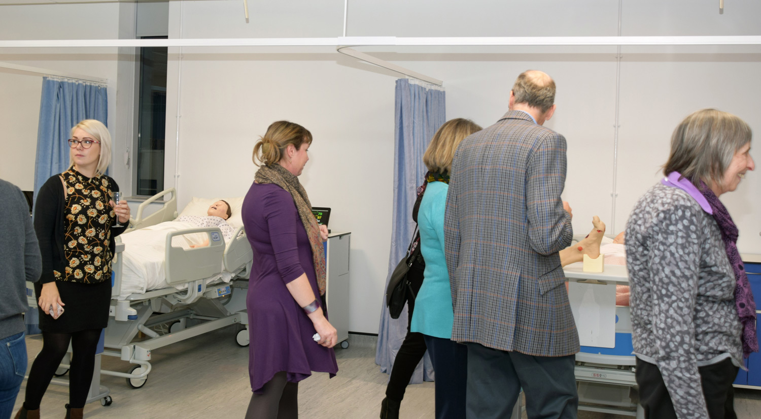 Guests tour the new facilities