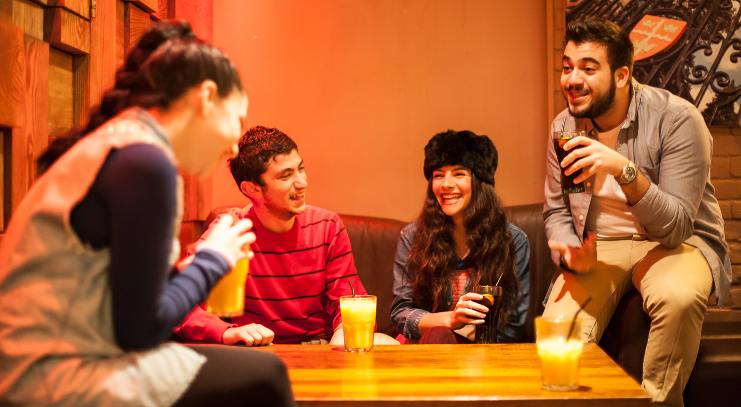 There are plenty of places to meet-up outside your studies