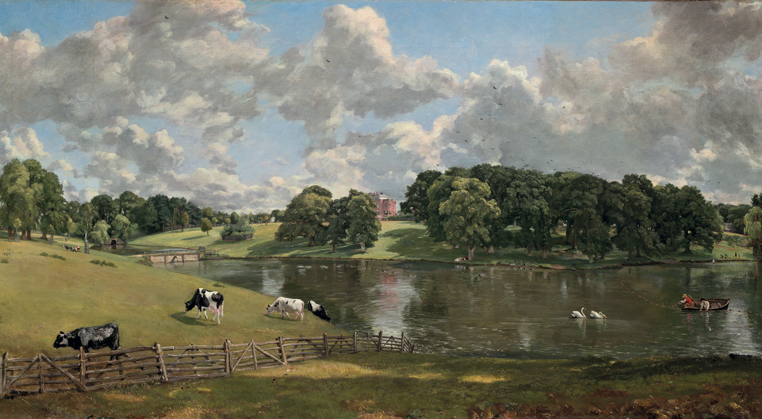 Constable's painting of Wivenhoe Park. Courtesy of the National Gallery of Art, Washington DC.