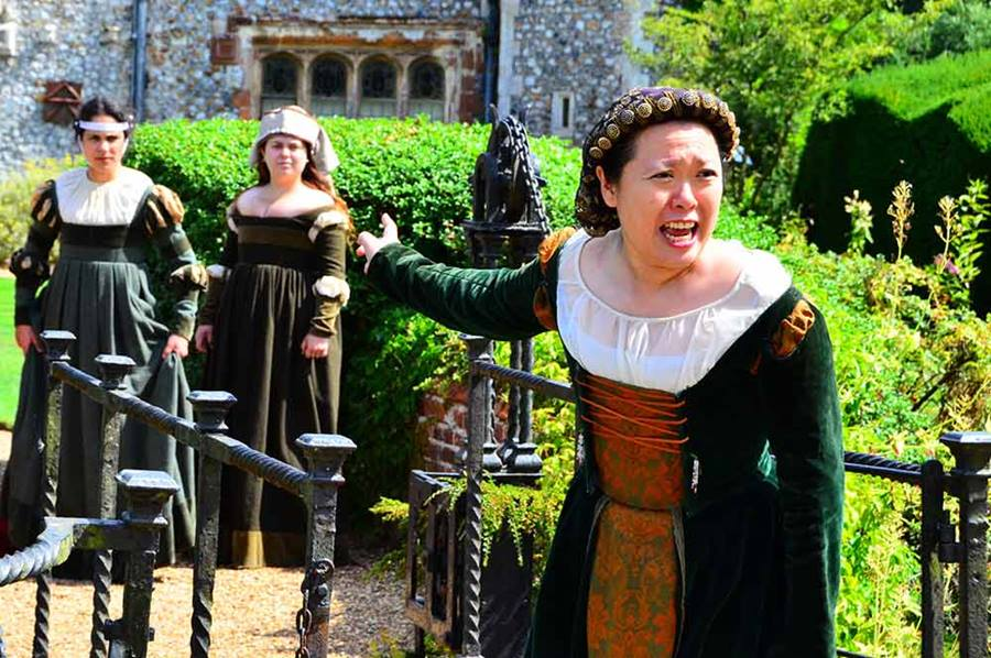 Actors performing at Mannington Hall in one of the Paston Footprints events
