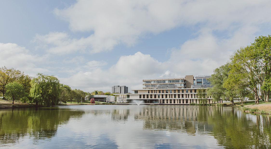 Sweeping views across the lake towards central campus