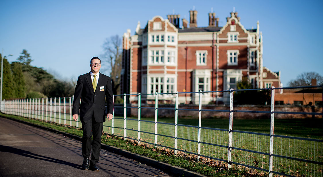 Colchester campus is home to 4-star country house hotel, Wivenhoe House, where Edge Hotel School students work and study