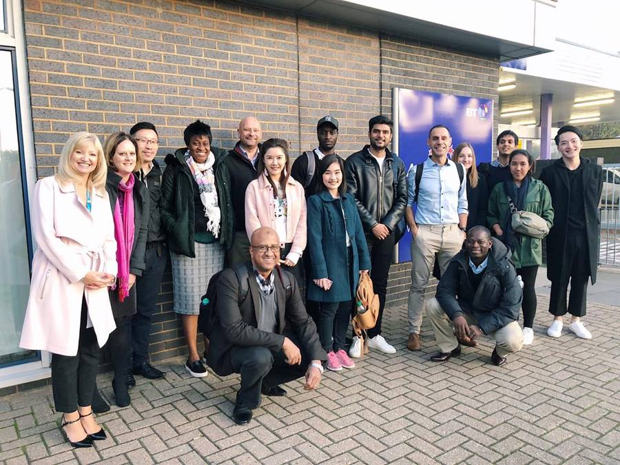 The Essex MBA class of 2019 students visit Innovation Martlesham as part of the Director's Workshops