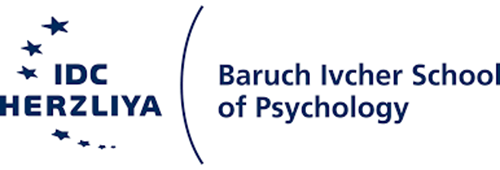 A blue logo on a white background for the Baruch Ivcher School of Psychology.